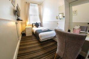 single bed in guest house